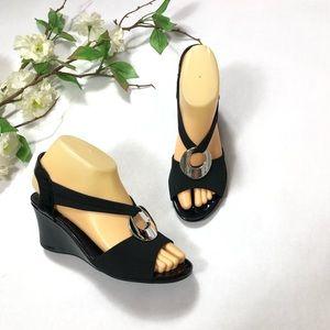 "Impo ""Vamos"" Women's Black Wedge Sandals | Size: 6"